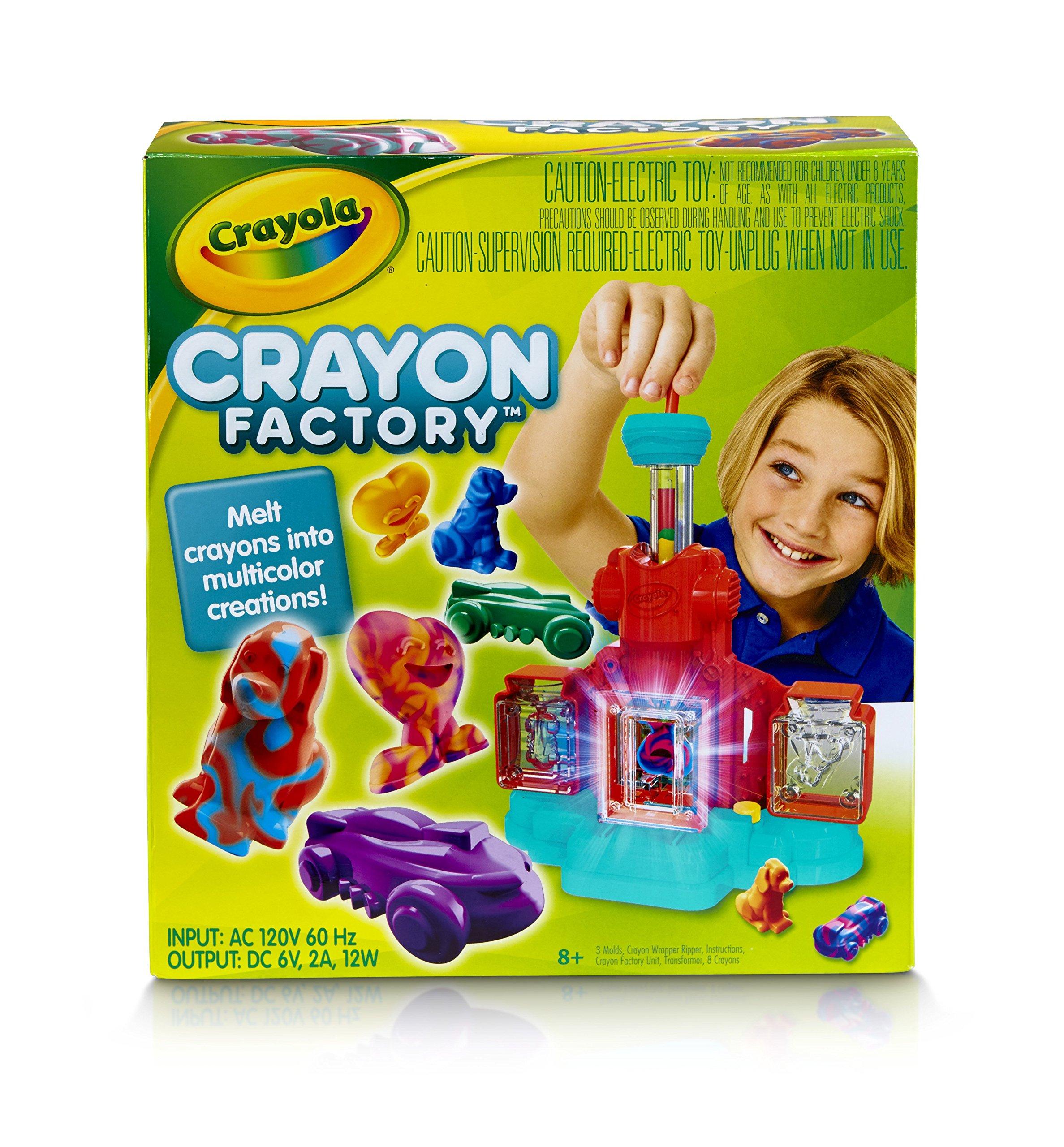 Crayola; Crayon Factory; Art Tool; Electronic; Melt and Mold Crayon Bits into Custom Creations