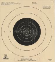 DOMAGRON 25 Yard Slow Fire Pistol Target Official NRA Target B-16