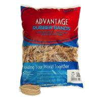 "Alliance Rubber 26324 Advantage Rubber Bands Size #32, 1 lb Bag Contains Approx. 700 Bands (3"" x 1/8"", Natural Crepe)"