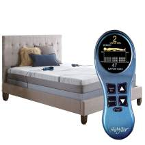 """Night Air, Twin XL 2-Chamber Adjustable Number Mattress, 4"""" Comfort Layer to Ensure Personal Comfort for Each Side of The Bed (Twin_XL, 2280 14"""" inch)"""