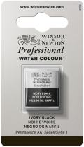 Winsor & Newton Professional Water Colour Paint, Half Pan, Ivory Black