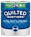 Quilted Northern Ultra Soft and Strong  Toilet Paper, 6 Mega Rolls = 24 Regular Rolls, 328 2-Ply Sheets Per Roll