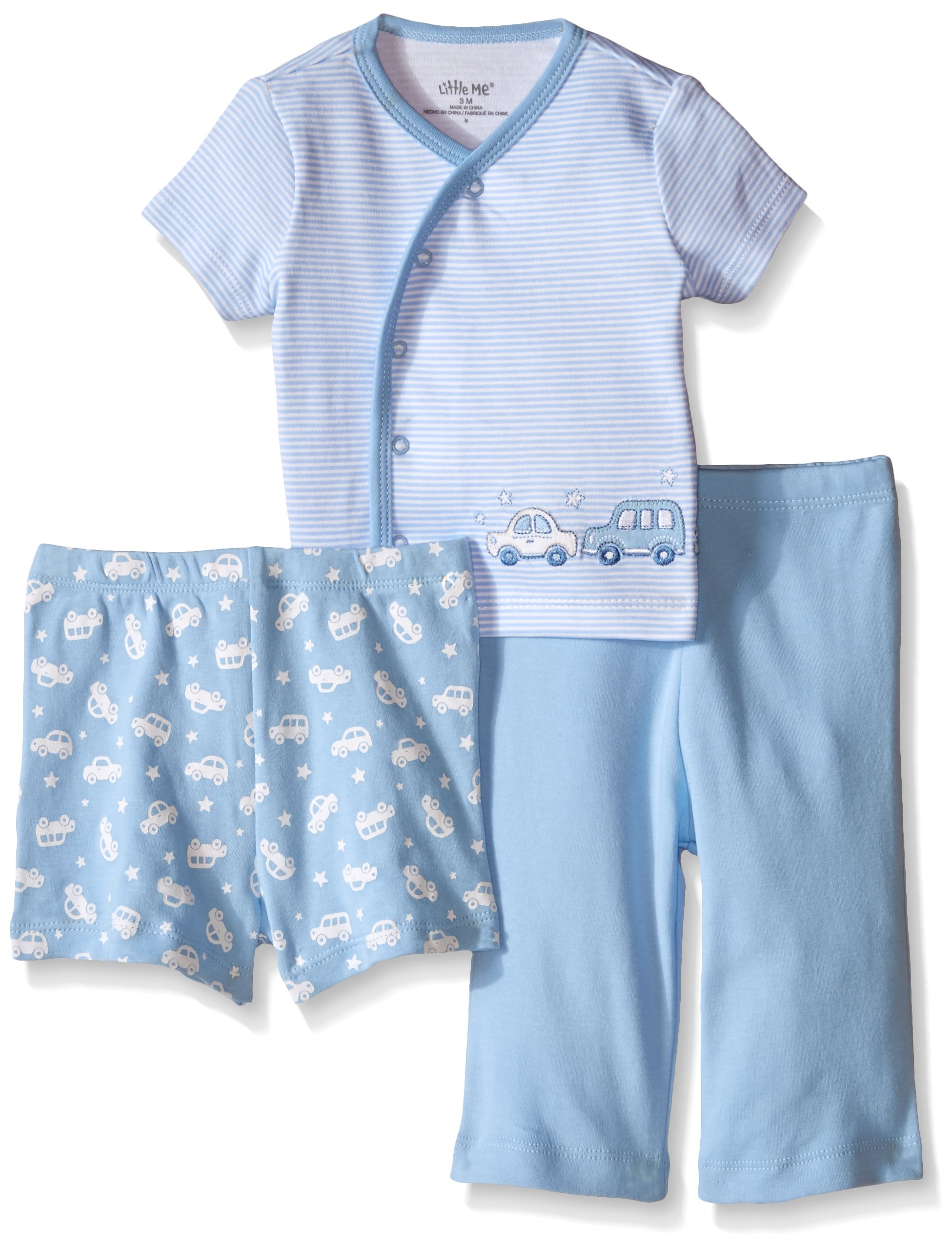 Little Me Baby Boys' 3 Piece Diaper Set