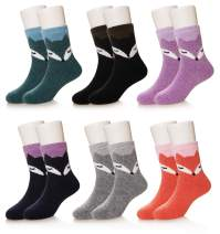 SEEYAN 6 Pairs Baby Boy Girl Winter Thick Warm Soft Crew Wool Kids Socks
