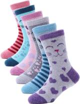 Kids Wool Warm Socks 6 Pairs Toddlers Boys Girls Winter Boot Thick Snow Cabin Thermal Christmas Child Socks