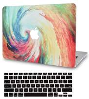 """KECC Laptop Case for MacBook Pro 13"""" (2020/2019/2018/2017/2016) w/Keyboard Cover Plastic Hard Shell A2159/A1989/A1706/A1708 Touch Bar 2 in 1 Bundle (Whirlpool)"""