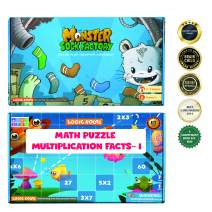 LogicRoots Multiplication Game and Multiplication Table 2-6 Math Puzzles for Kids (72 Pieces) Combo (Perfect for Boys and Girls - Best for 7, 8, 9, and 10 Year olds)