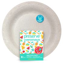 Preserve 70103 Compostable Large 10 Inch Dinner Plates Kitchen Supplies, Natural