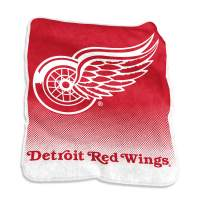 "Logo Brands 811-26A NHL Detroit Red Wings Plush Raschel Throw with Large Logo Blanket, Multicolor, 50"" x 60, One Size"