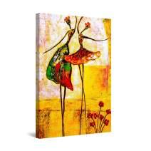 "Startonight Canvas Wall Art Abstract - Abstract Ballerinas Dancing Painting - Artwork Print for Bedroom 24"" x 36"""