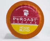 Puroast Low Acid Coffee 72 Single Serve 72, House Blend (Caffeinated), 72 Count