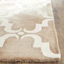 Safavieh Dip Dye Collection DDY536G Handmade Geometric Watercolor Beige and Ivory Wool Area Rug (2' x 3')