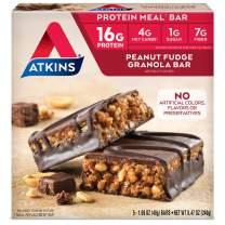 Atkins Meal Bars, Peanut Fudge Granola, Keto Friendly, 5 Count