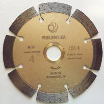 """Whirlwind USA LSS 4 in. Dry or Wet Cutting General Purpose Power Saw Segmented Diamond Blades for Masonry Brick/Block Pavers Concrete Stone (Factory Direct Sale) (4"""")"""
