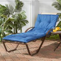 Greendale Home Fashions OC8665-MARINEBLUE Outdoor Lightweight Chaise Cushion, Marine