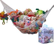 MiniOwls Toy Hammock Stuffed Toys Organizer - Ideal Nursery Decor for Kids. Helps to de-clutter spaces. Great Baby Shower Gift. Strong and Durable Storage (White, X-Large)