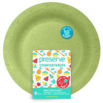 "Preserve 70101 Compostable Large 10 Inch Dinner Plates Kitchen Supplies, 10"", Green"