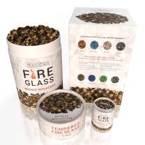 EcoGen Fire Glass Rocks for Outdoor Fire Pits and Indoor Fireplace, Color, Optimal Heat for Propane or Gas, Tempered and Reflective, Eco-Friendly Packaging, Bronze 1/4 inch Reflective 3oz Sample.