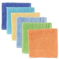 Luvable Friends Unisex Baby Super Soft Cotton Washcloths, Blue, One Size