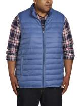 Amazon Essentials Men's Big & Tall Lightweight Water-Resistant Packable Puffer Vest fit by DXL