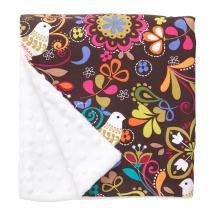 "Original Baby Elephant Ears Boys & Girls Baby Blanket-Soft Minky, for Newborn Infants & Toddlers, Plush Blanket - (Birds of Norway, Large 27"" x 29"")"