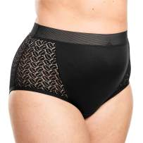 Comfort Choice Women's Plus Size Mesh Sides Full-Cut Brief