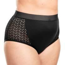 Comfort Choice Women's Plus Size Mesh Sides Full-Cut Brief