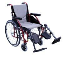 "Karman S-ERGO115F16R-E Wheelchair with Elevating Legrest, Rose Red, 16"" x 17"", 25 Pound"
