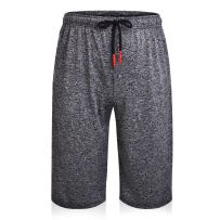 LETSQK Men's Quick-Dry Workout Gym Training Running Shorts with Zip Pockets