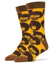 Oooh Yeah Men's Novelty Crew Socks, Exclusive Funny Socks for Bob Ross, Christmas Socks, Dress Cotton Socks
