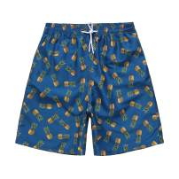 TRIFUNESS Pineapple Swim Trunks for Men Quick Dry Board Shorts with Mesh Lining Swimwear Bathing Suits
