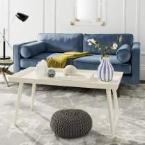 Safavieh Home Nonie Modern Antique White Tray Top Coffee Table
