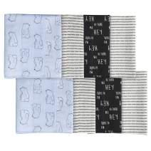 Gerber Baby Boys' 8-Pack Flannel Burp Cloth, Bear, One Size
