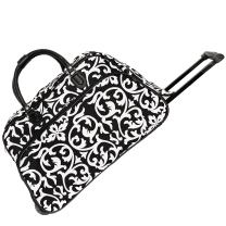 World Traveler 21-Inch Carry-On Rolling Duffel Bag, Multicolor Paisley