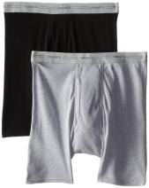Hanes Men's 2-Pack Exposed Waistband Dyed Boxer Briefs