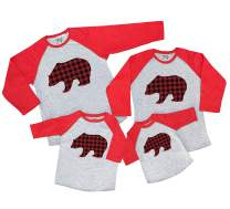 7 ate 9 Apparel Matching Family Christmas Shirts - Plaid Bear Red Shirt