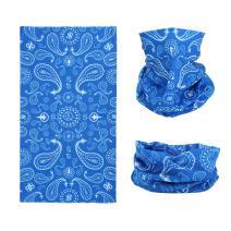 SMEHCF Novelty Seamless Bandana Balaclava Face Cover Mask Shield Neck Gaiter Reusable Breathable Dustproof Windproof Unisex Blue Konjac Flower