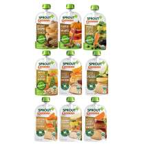 Sprout Organic Baby Food Stage 3 Protein Variety Sampler, 4 Oz Pouches, 12Count (Packaging May Vary)