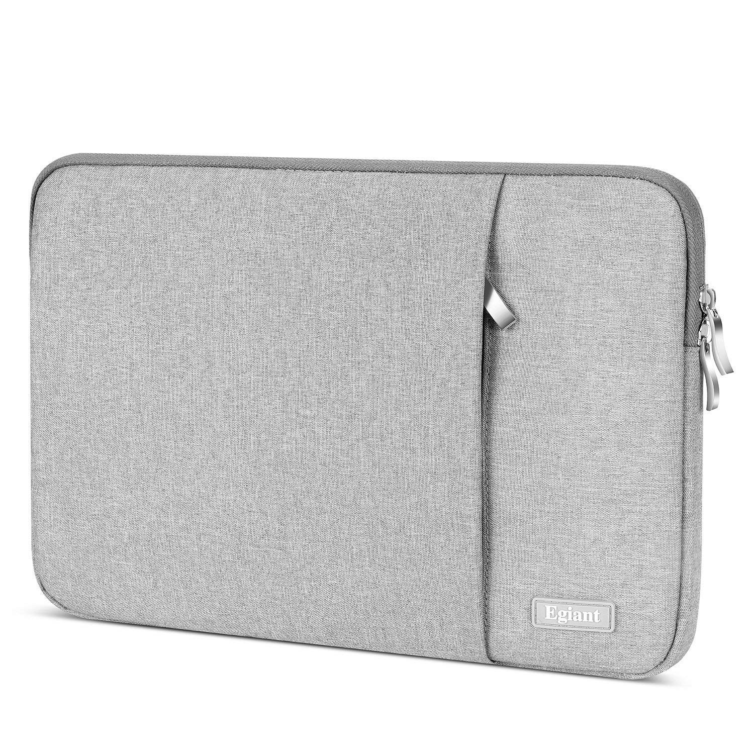 Egiant Laptop Sleeve Water-Resistant Protective Cases Bag Compatible 14-15.4 Inch Notebook,2019 New MacBook Pro 16 A2141,MacBook pro 15 Retina,Chromebook 14,14 Inch Computer Carrying Cases Cover,Gray