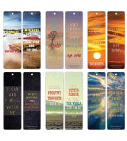 Creanoso Inspiring Sayings Mind and Thoughts Bookmark Cards (30-Pack) – Reading Readers Bookmarks Collection Pack – Book Reading Supplies – Book Clubs Reading