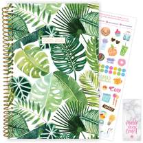 "bloom daily planners 2020-2021 Academic Year Day Planner (July 2020 - July 2021) Organizer & Calendar - Weekly/Monthly Dated Agenda Book with Stickers & Bookmark - 6"" x 8.25"" - Tropical Palm Leaves"