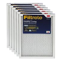 Filtrete MPR 1900 17.5 x 23.5 x 1 Healthy Living Ultimate Allergen Reduction AC Furnace Air Filter, Uncompromised Airflow, 6-Pack