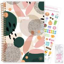 """bloom daily planners 2020-2021 Academic Year Day Planner & Calendar (July 2020 - July 2021) - 6"""" x 8.25"""" - Weekly/Monthly Agenda Organizer with Stickers and Bookmark - Modern Abstract"""