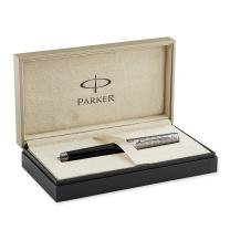 Parker Premier Custom Tartan, Fountain Pen with Medium solid gold nib and Black ink (S0887900)