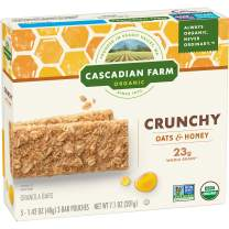 Cascadian Farm Organic Oats and Honey Crunchy Granola Bars, 5 ct, 7.1 oz