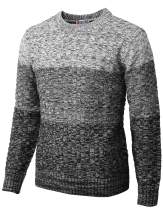 H2H Mens Casual Slim Fit Pullover Sweaters Knitted Long Sleeve Basic Designed