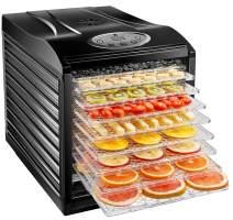 New House Kitchen 9 Dehydrator Machine Electric Food Preserver for Meat/Beef Jerky, Dried Fruit/Veggie Maker, Dishwasher Safe Slide Out Trays, Transparent Door, Black