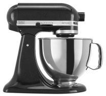 KitchenAid RRK150CV  5 Qt. Artisan Series Stand Mixer - Caviar (Renewed)