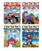 Do A Dot Art! Coloring Book Bundle- 4 Pack Coloring Books- Kids Mighty Trucks, Discovering Mighty Dinosaurs, Who's in The Zoo, and Pirates & Buried Treasures