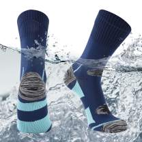 SuMade 100% Waterproof Socks, Unisex Winter Warm Breathable Cushioned Wicking Hiking Cycling Skiing Crew Socks